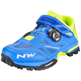 Northwave Enduro Mid Shoes Men blue/yellow fluo